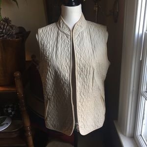 Talbots Tan Quilted Vest